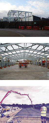 Industrial metal frame building supplier
