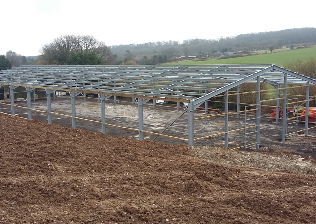 Equine Building Constructed Using Hot Rolled Steelwork