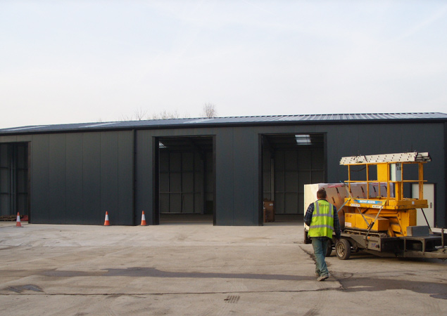 Groundworks, Steelwork and Cladding package for expanding Sheffield Logistics Company
