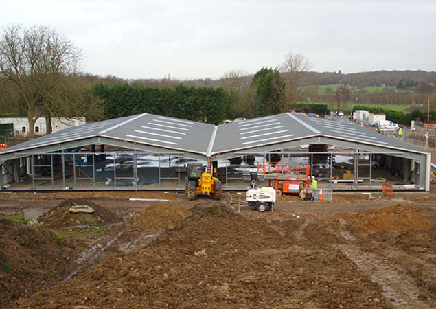 Large Cold Rolled Steel Structure in the South of England