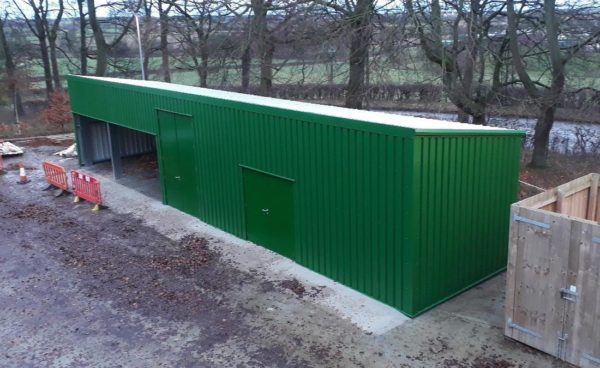 Ground Maintenance Steel Shed