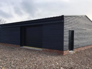 Timber Clad Steel Storage Building