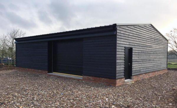 Timber Clad Steel Storage Building