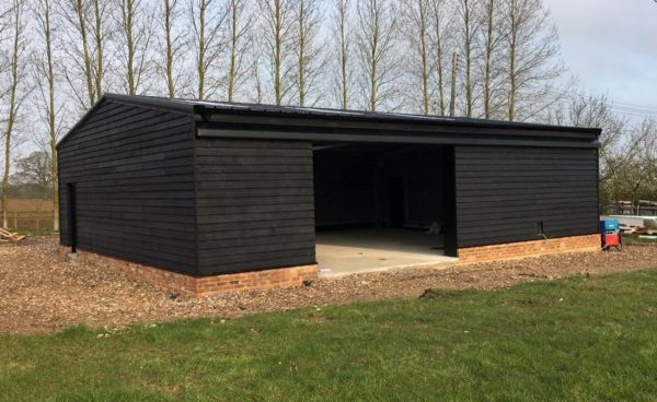 Timber Clad Storage Building Machinery